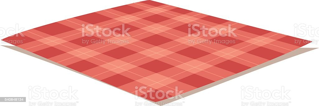Tablecloth vector illustration. vector art illustration