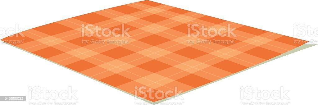 Tablecloth vector illustration. vector art illustration
