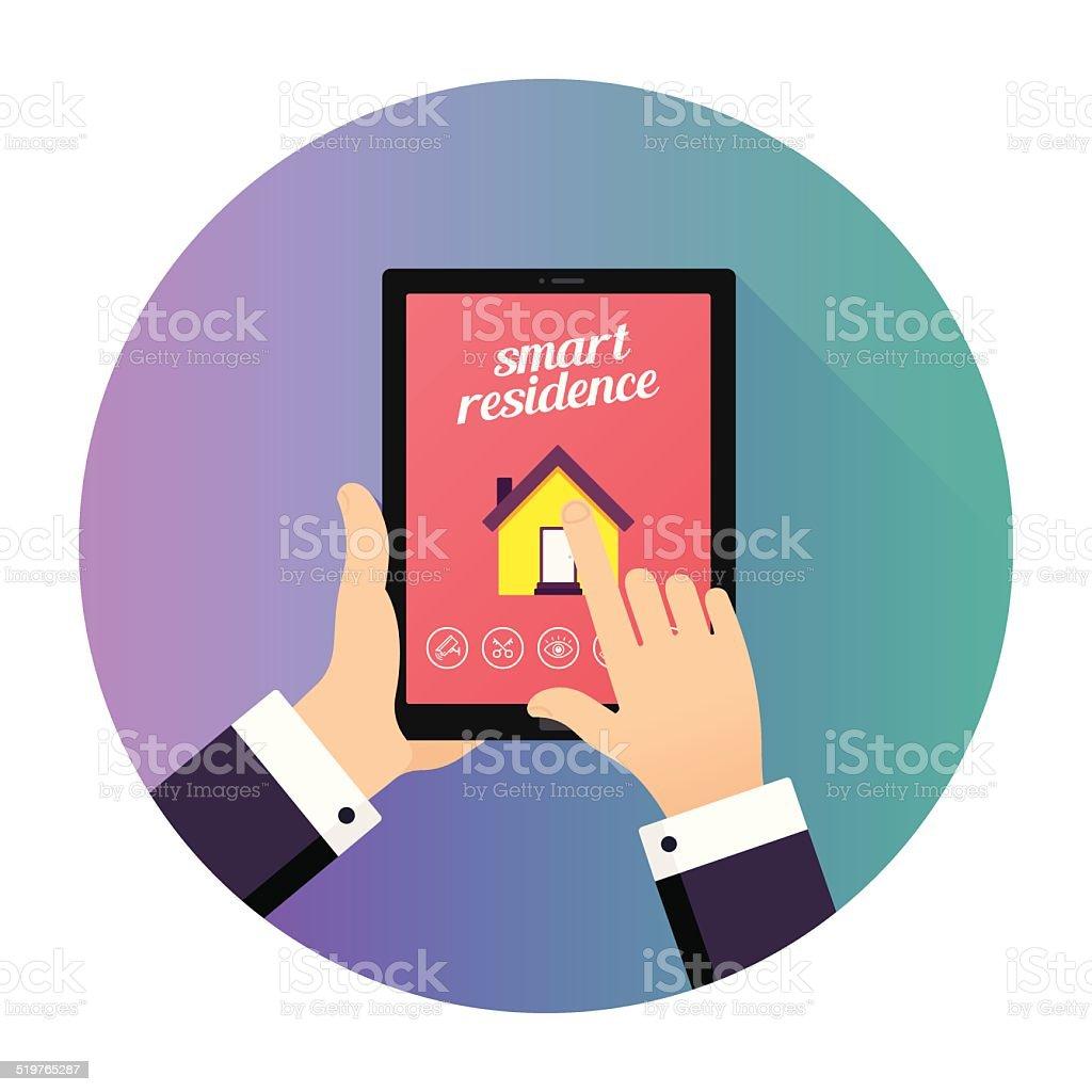 Tablet Application vector art illustration