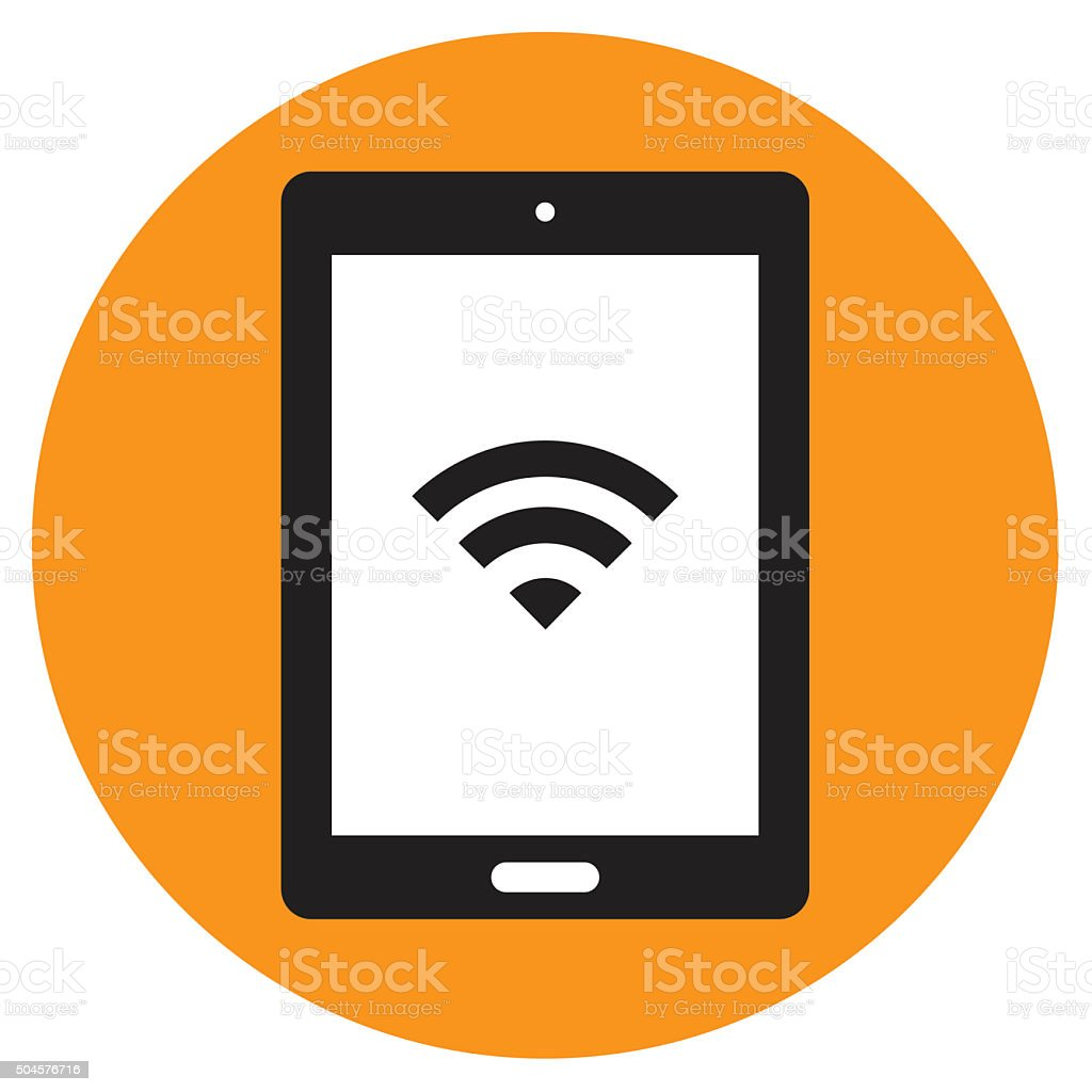 Tablet computer icon. Vector vector art illustration