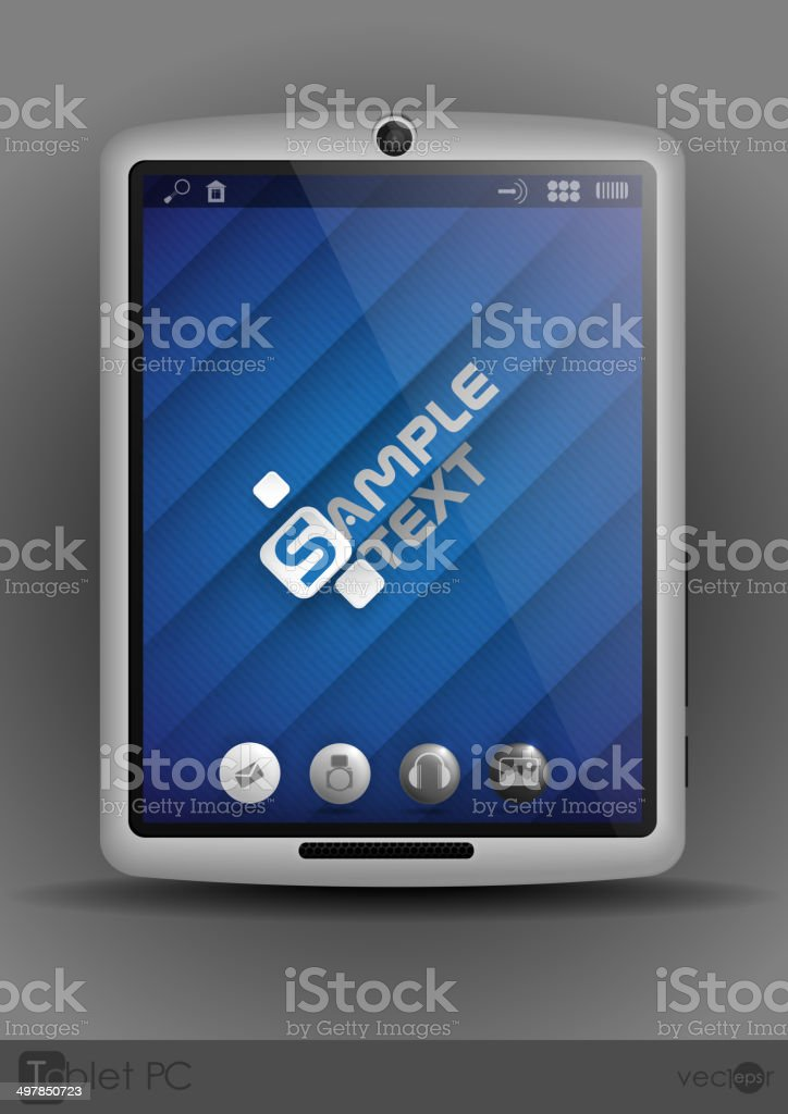 Tablet Computer, Mobile Phone. royalty-free stock vector art