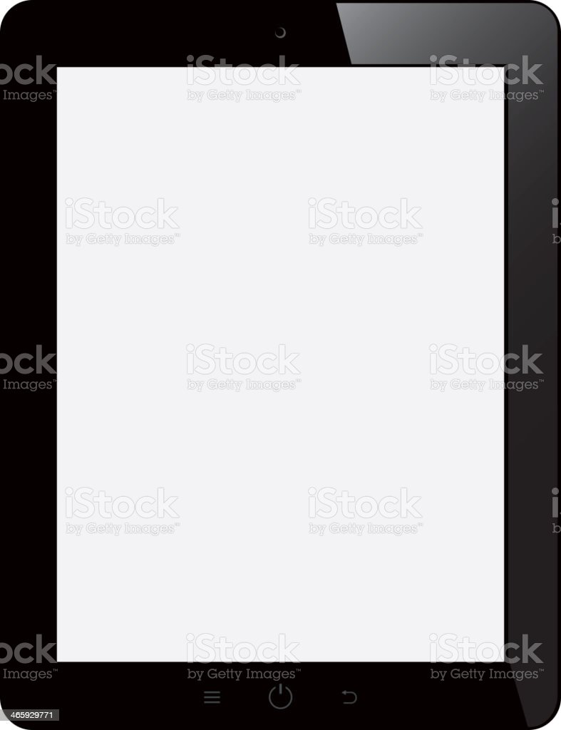 tablet computer with blank screen on isolated background royalty-free stock vector art