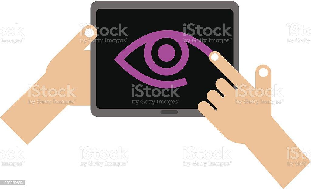 Tablet eye royalty-free stock vector art