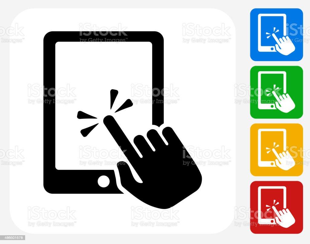 Tablet Icon Flat Graphic Design vector art illustration