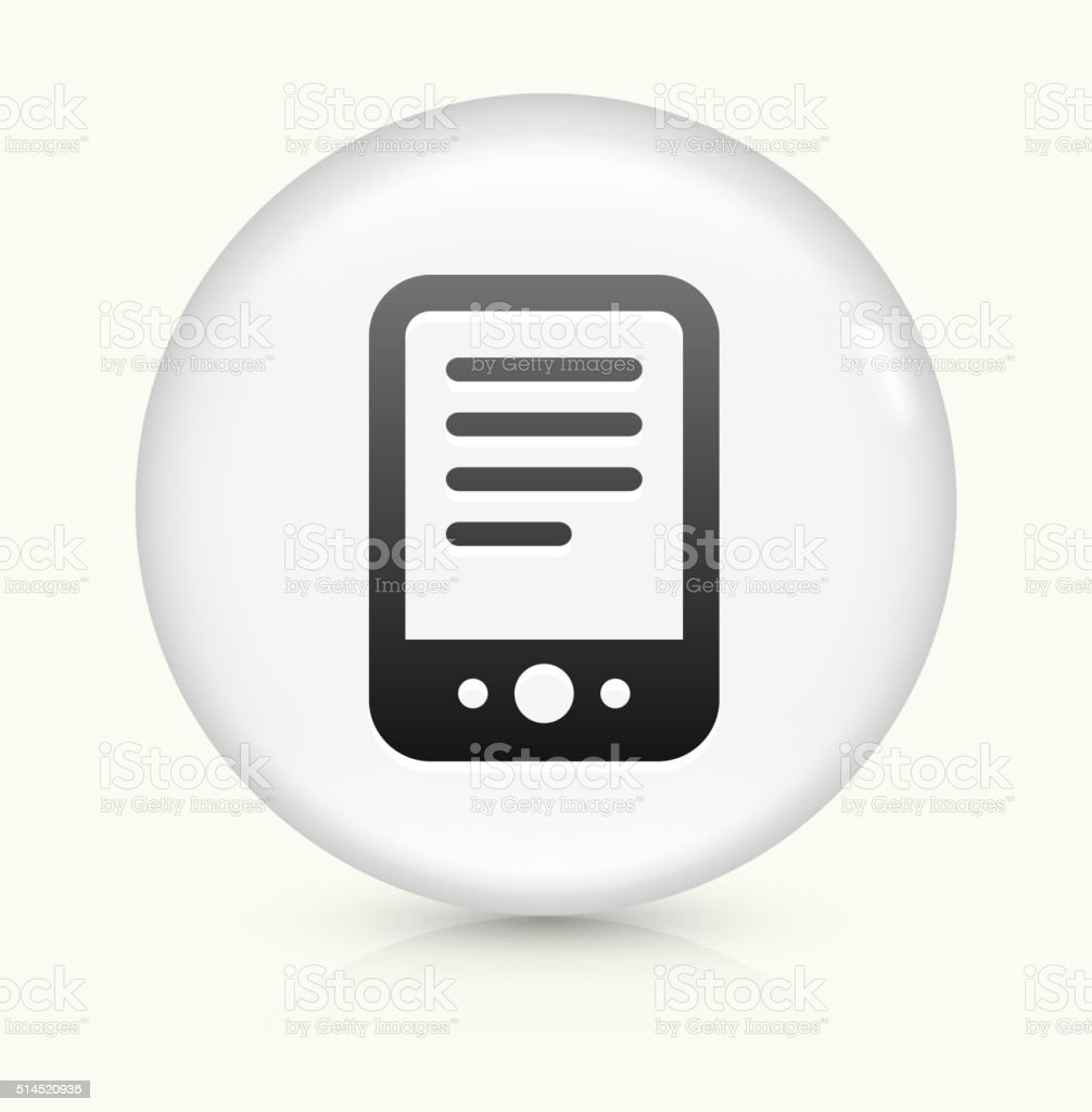 Tablet icon on white round vector button vector art illustration
