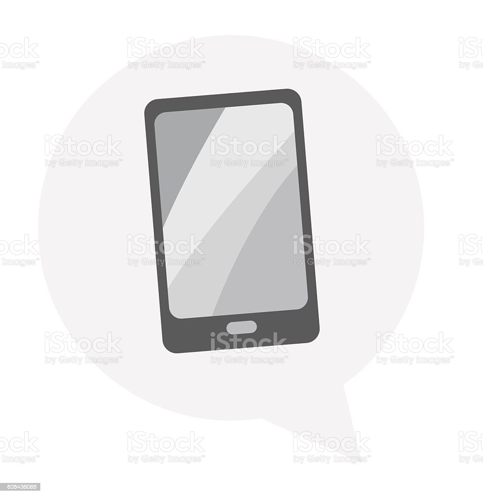 Tablet icon with isolated vector art illustration