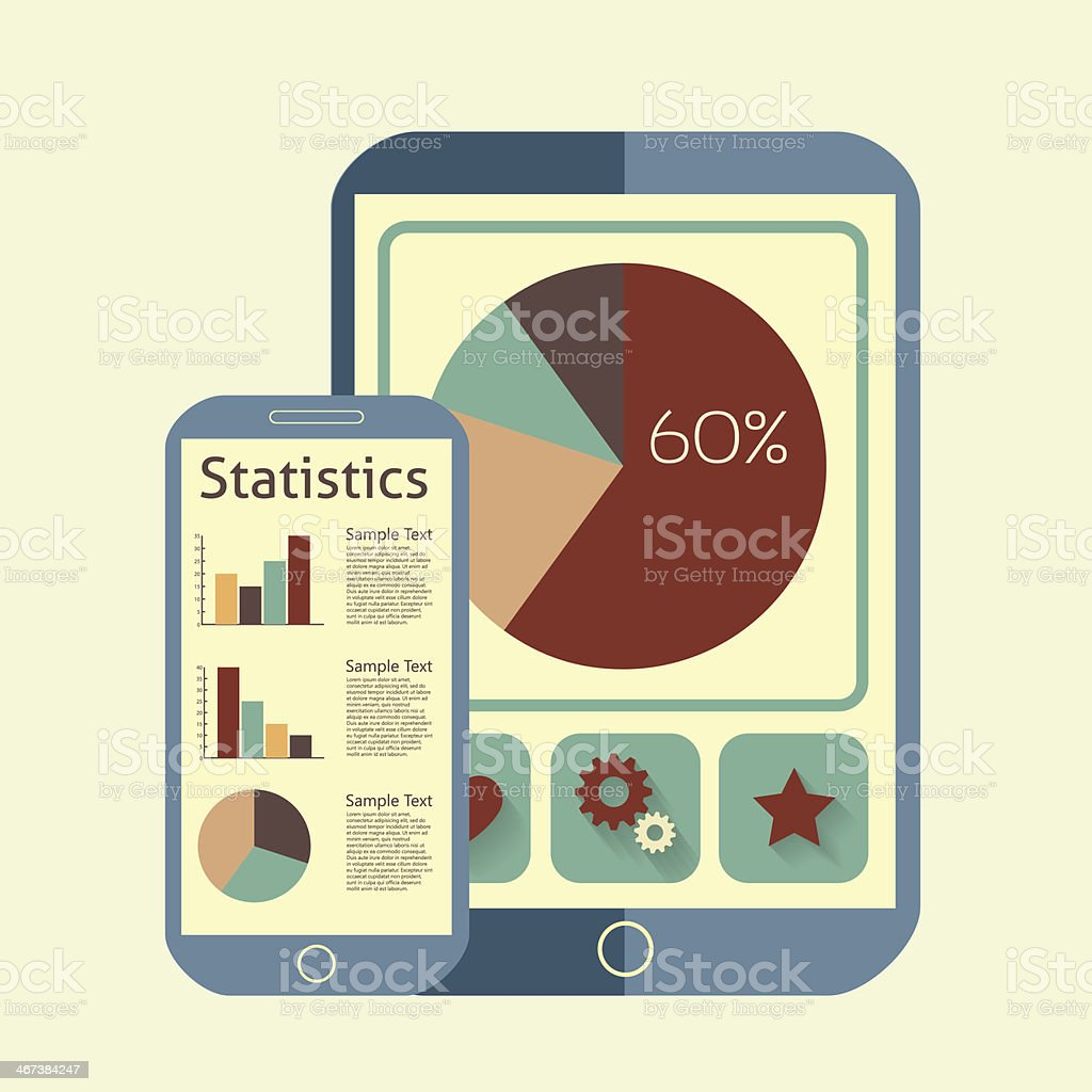 tablet info vector art illustration