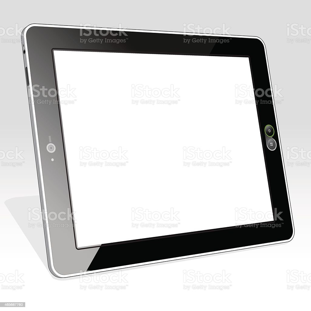 Tablet PC Blank Left vector art illustration