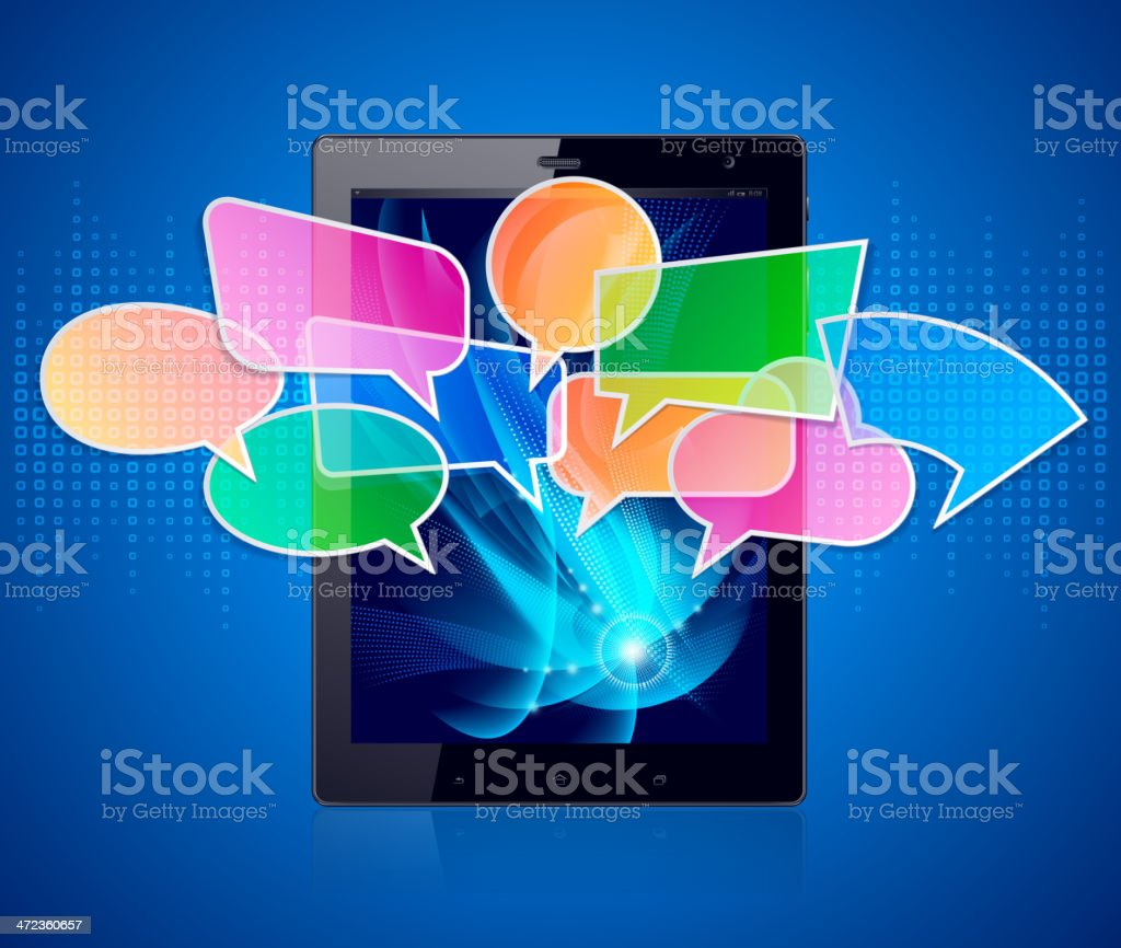 Tablet PC Communication royalty-free stock vector art