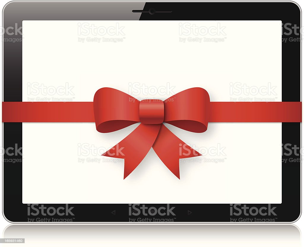 Tablet pc gift royalty-free stock vector art