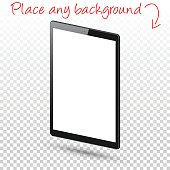Tablet Pc isolated on Blank Background - Digital Tablet Template