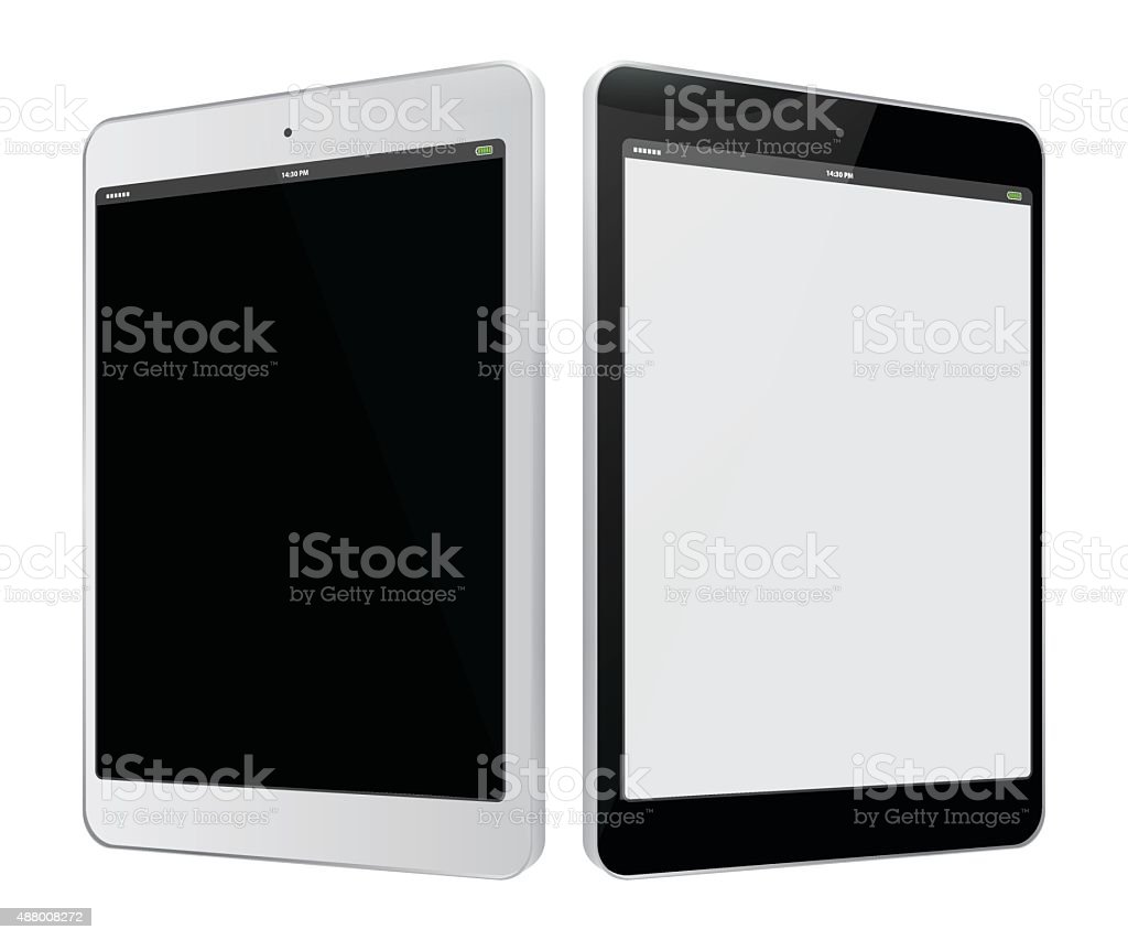Tablet PC vector art illustration