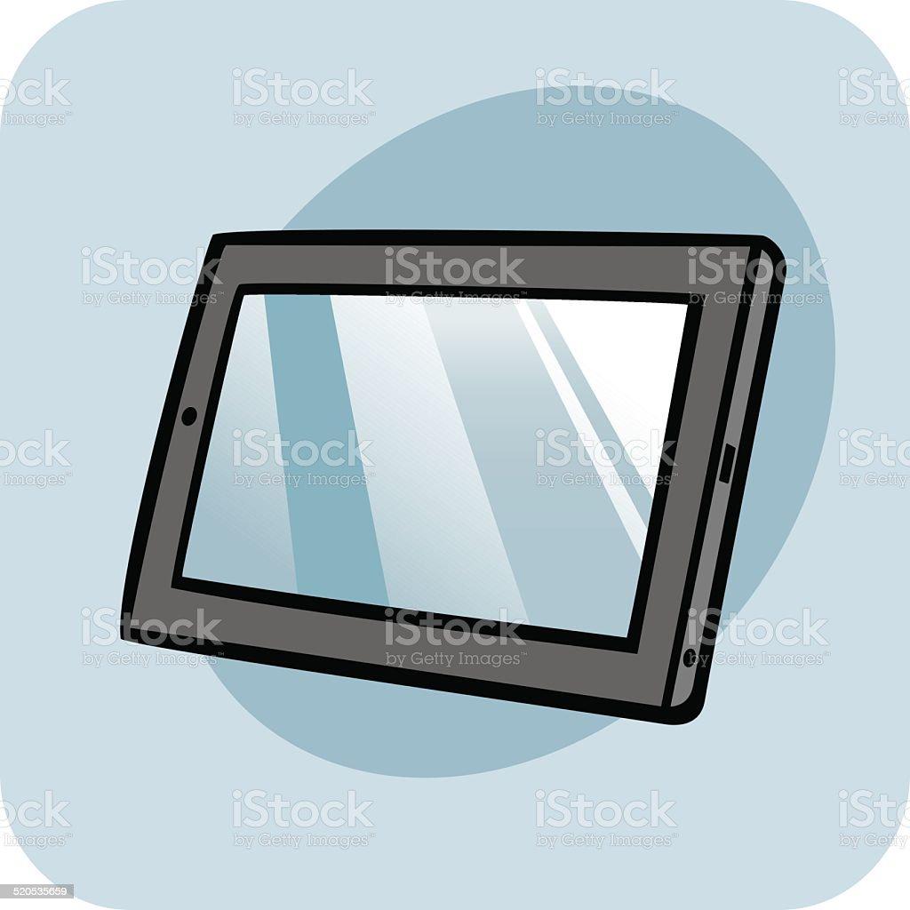Tablet PC vector art illustration
