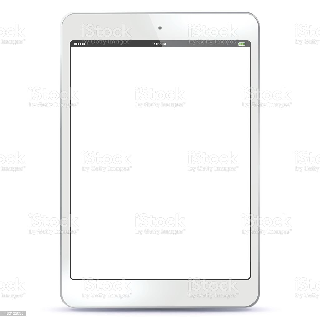 Tablet PC White vector art illustration