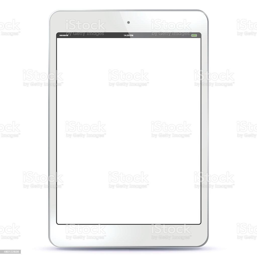 Tablet PC White vector art illustration