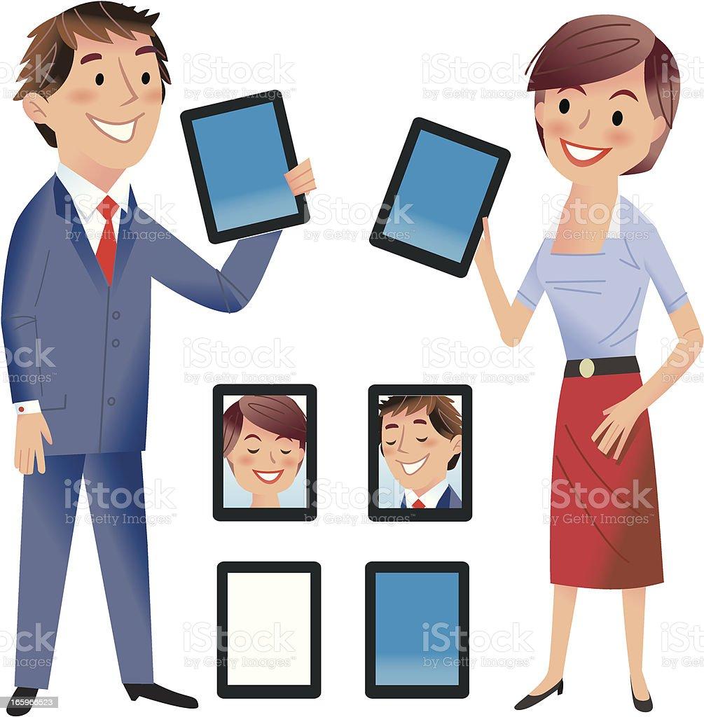 Tablet Talk royalty-free stock vector art