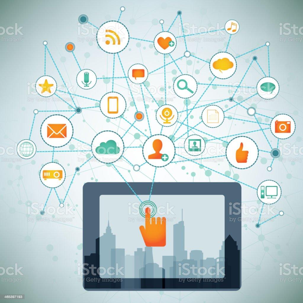 Tablet Technology royalty-free stock vector art