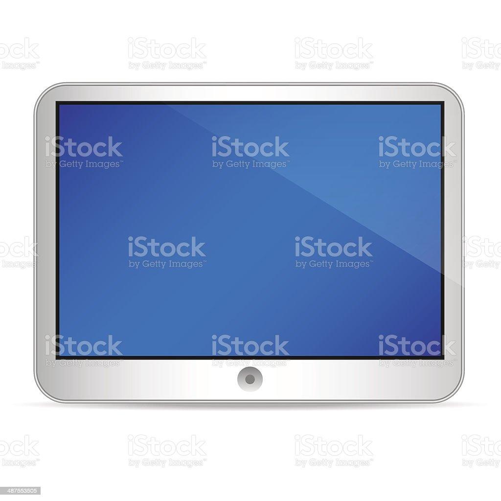 tablet_horizontal vector art illustration