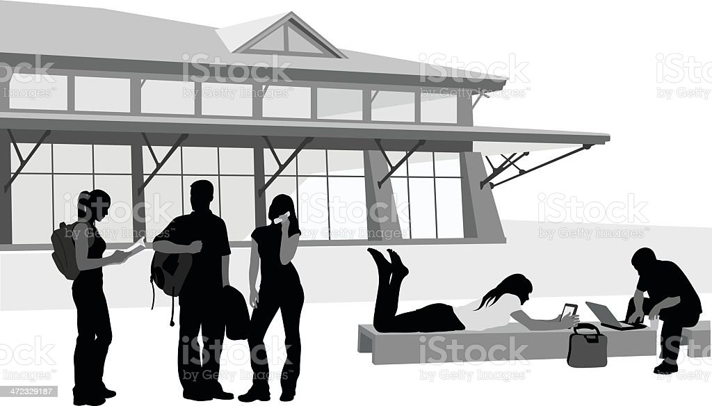 Tablet'n Laptop vector art illustration