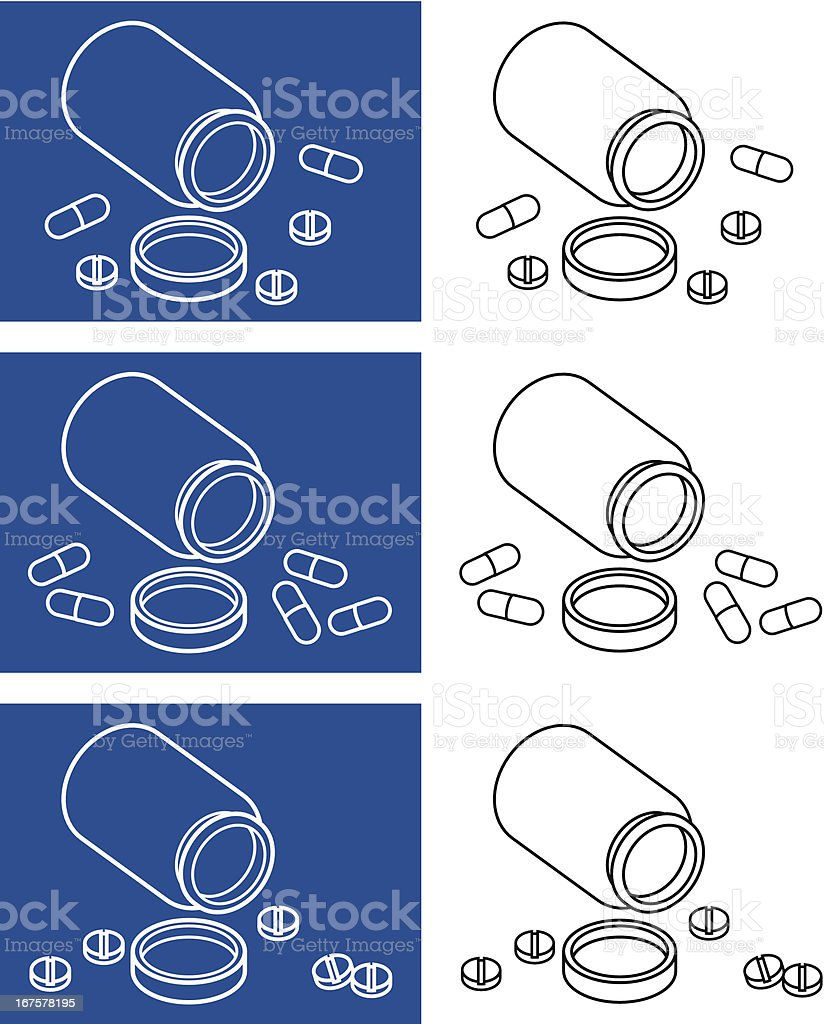 Tablets and pills vector icons royalty-free stock vector art