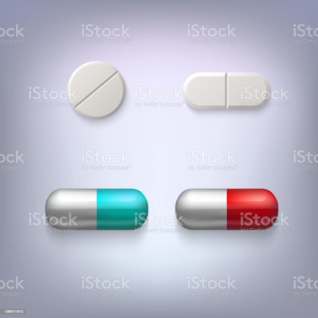 Tablets and pills vector illustration royalty-free stock vector art
