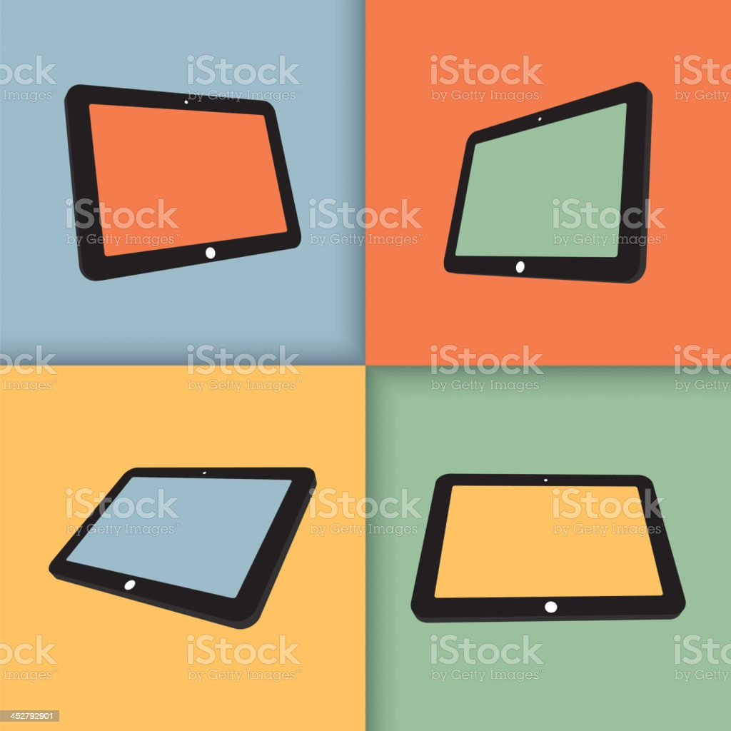 tablets royalty-free stock vector art