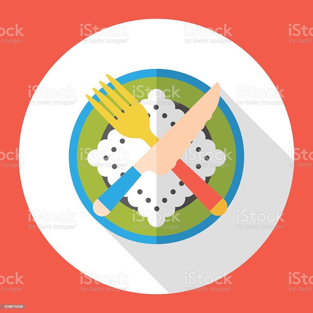 tableware flat icon vector art illustration