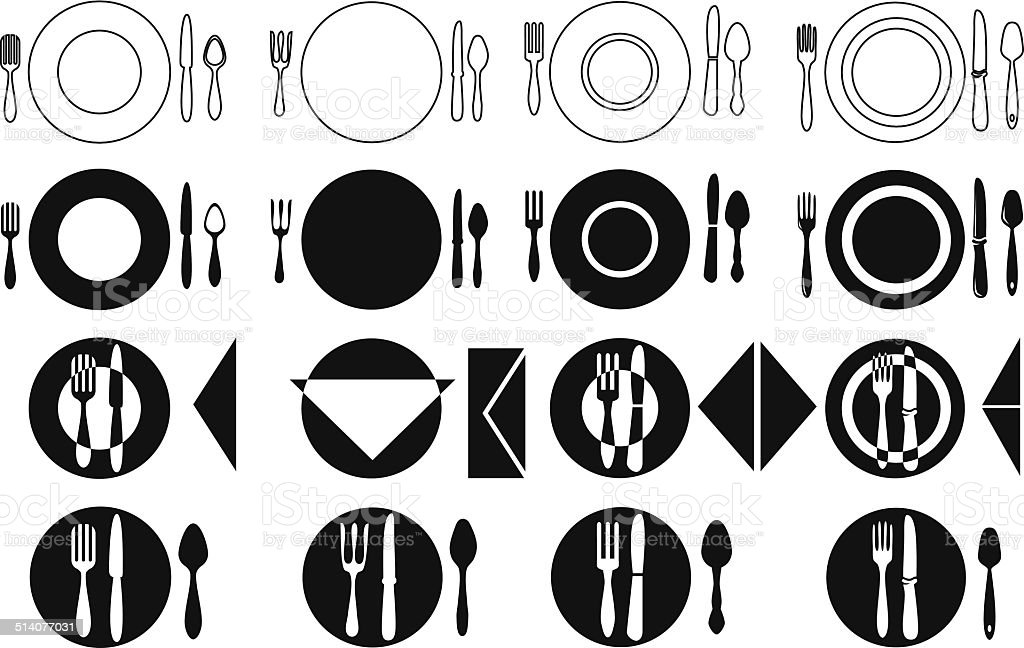 tableware vector art illustration