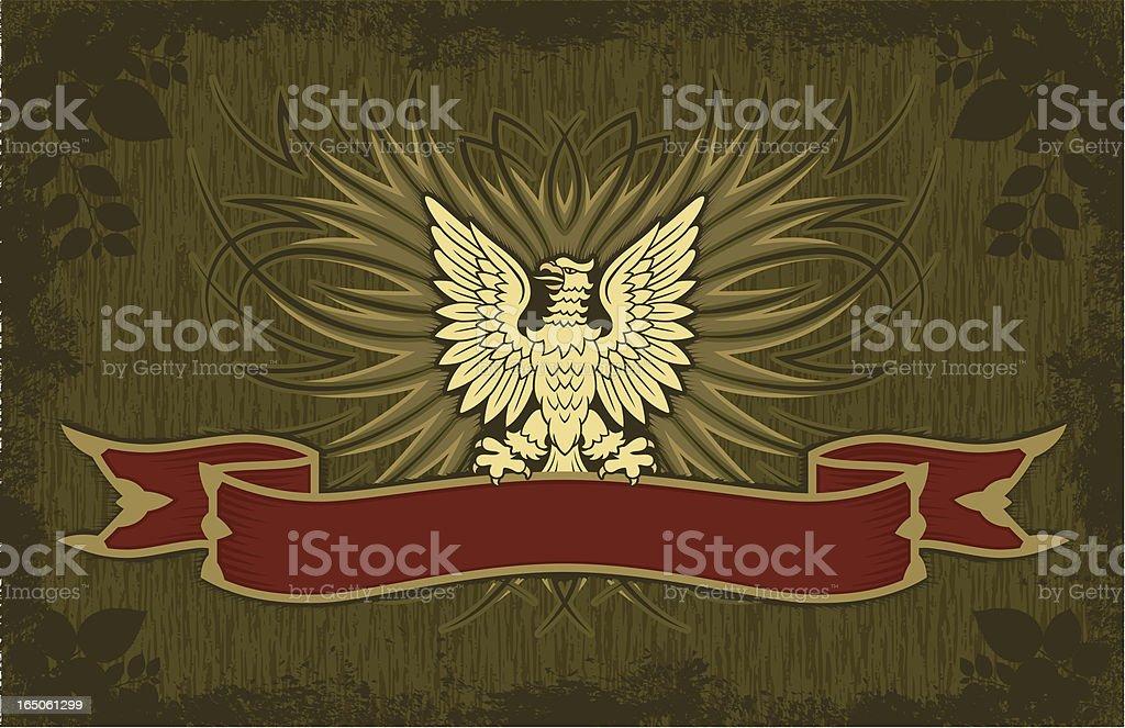 Tabloid Eagle Banner Heraldry royalty-free stock vector art