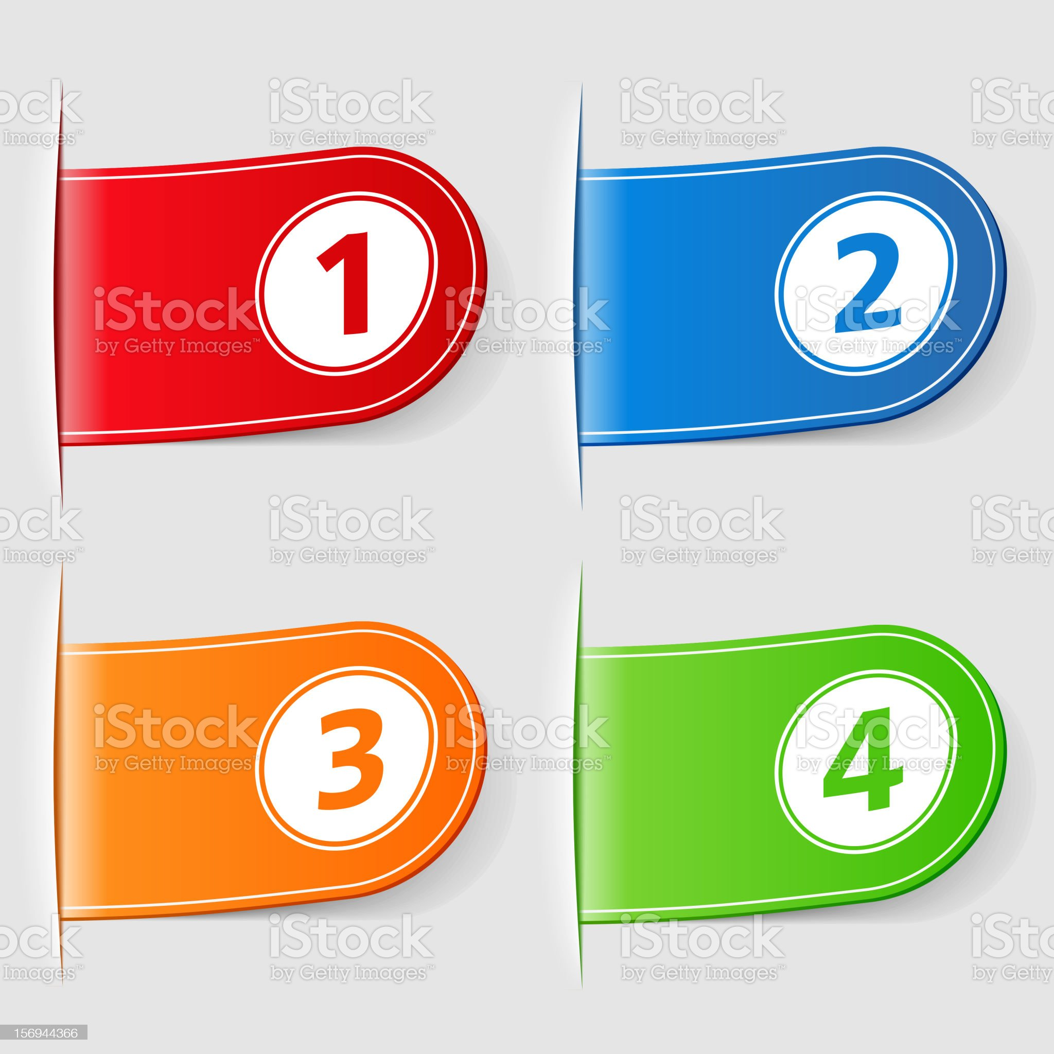 Tabs with numbers royalty-free stock photo