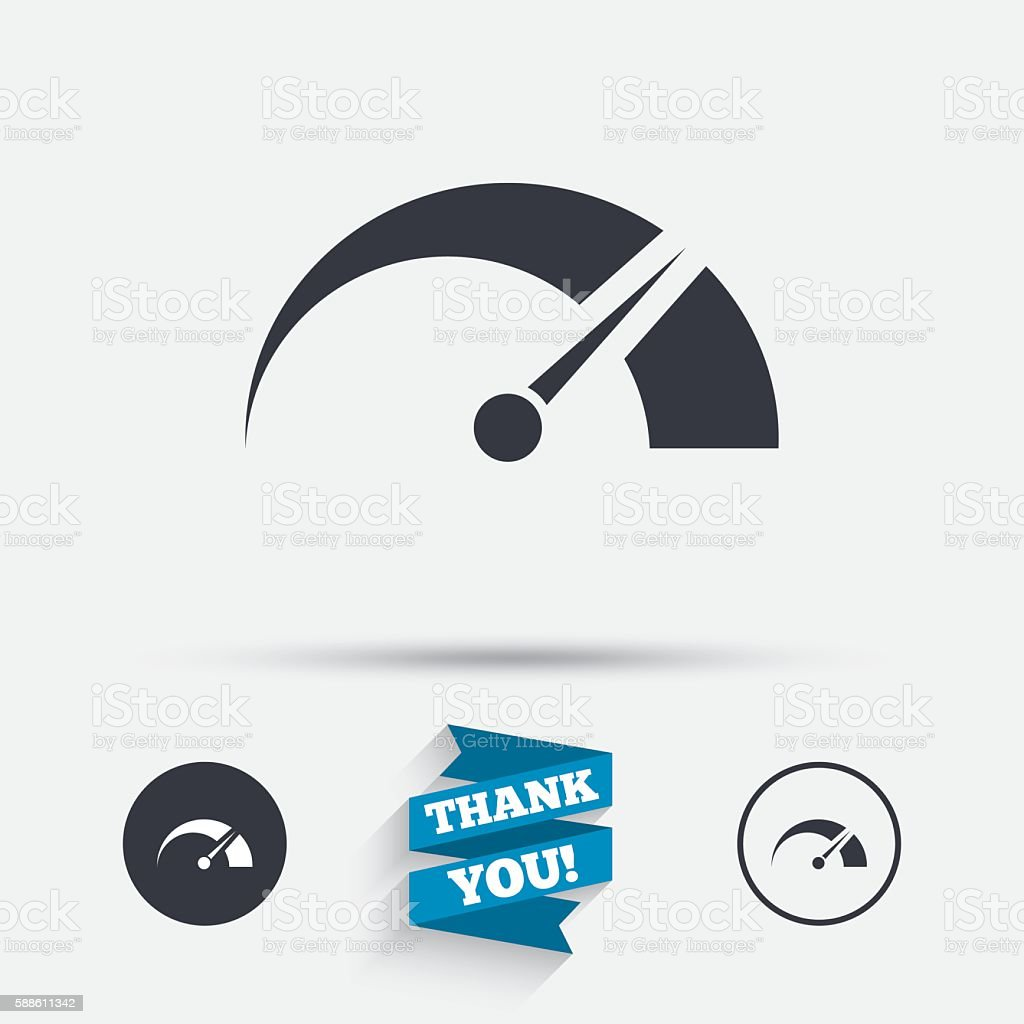 Tachometer sign icon. Revolution-counter symbol. vector art illustration