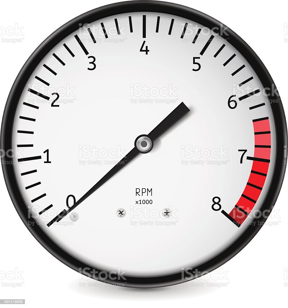 Tachometer vector art illustration