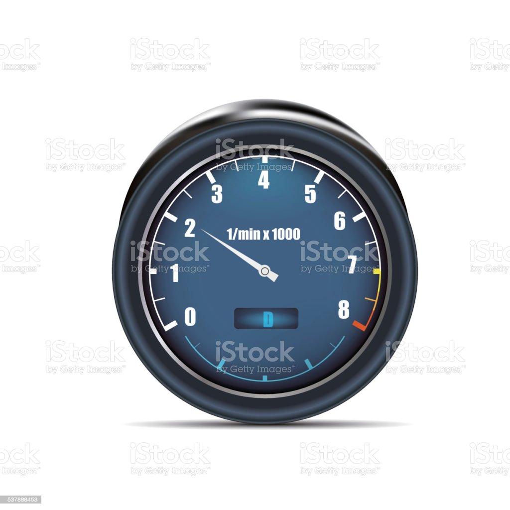 tachometer vector art illustration