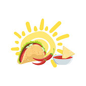 Taco And Nachos Mexican Culture Symbol