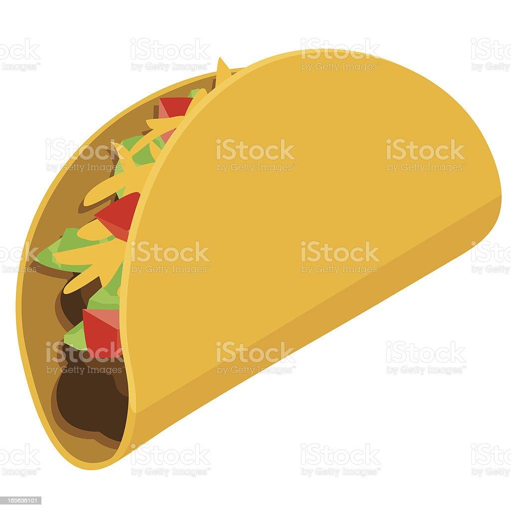 Taco royalty-free stock vector art