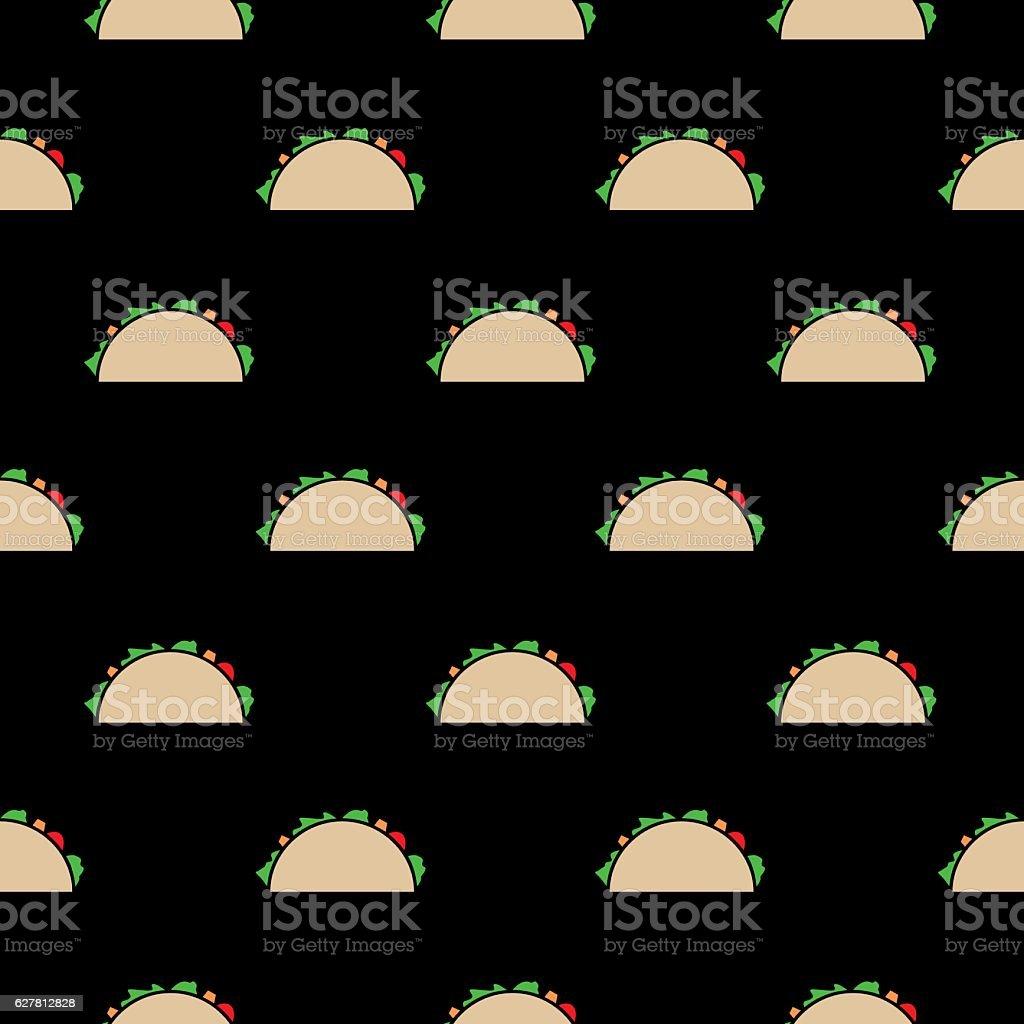 Tacos Seamless Pattern vector art illustration