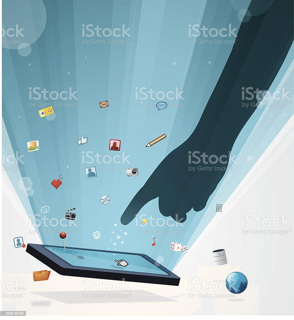 Tactile screen gadget royalty-free stock vector art