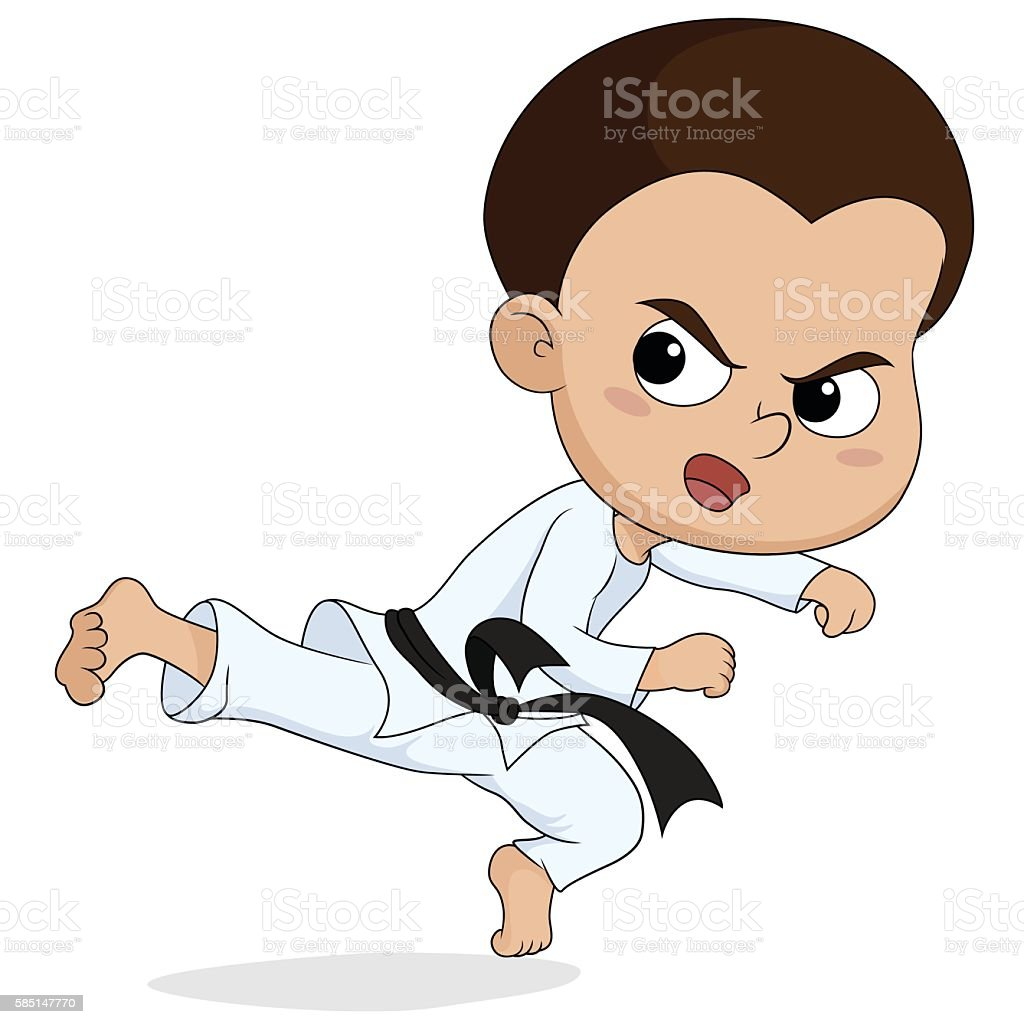 taekwondo kids fighting.vector and illustration. stock vecteur libres de droits libre de droits