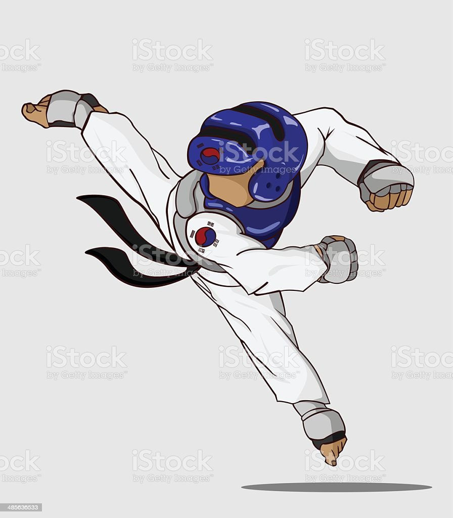 Taekwondo. Martial art vector art illustration
