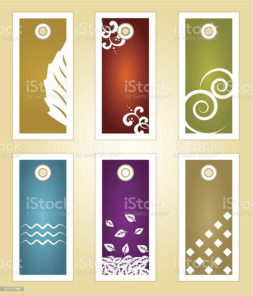 Tag and labels vector art illustration