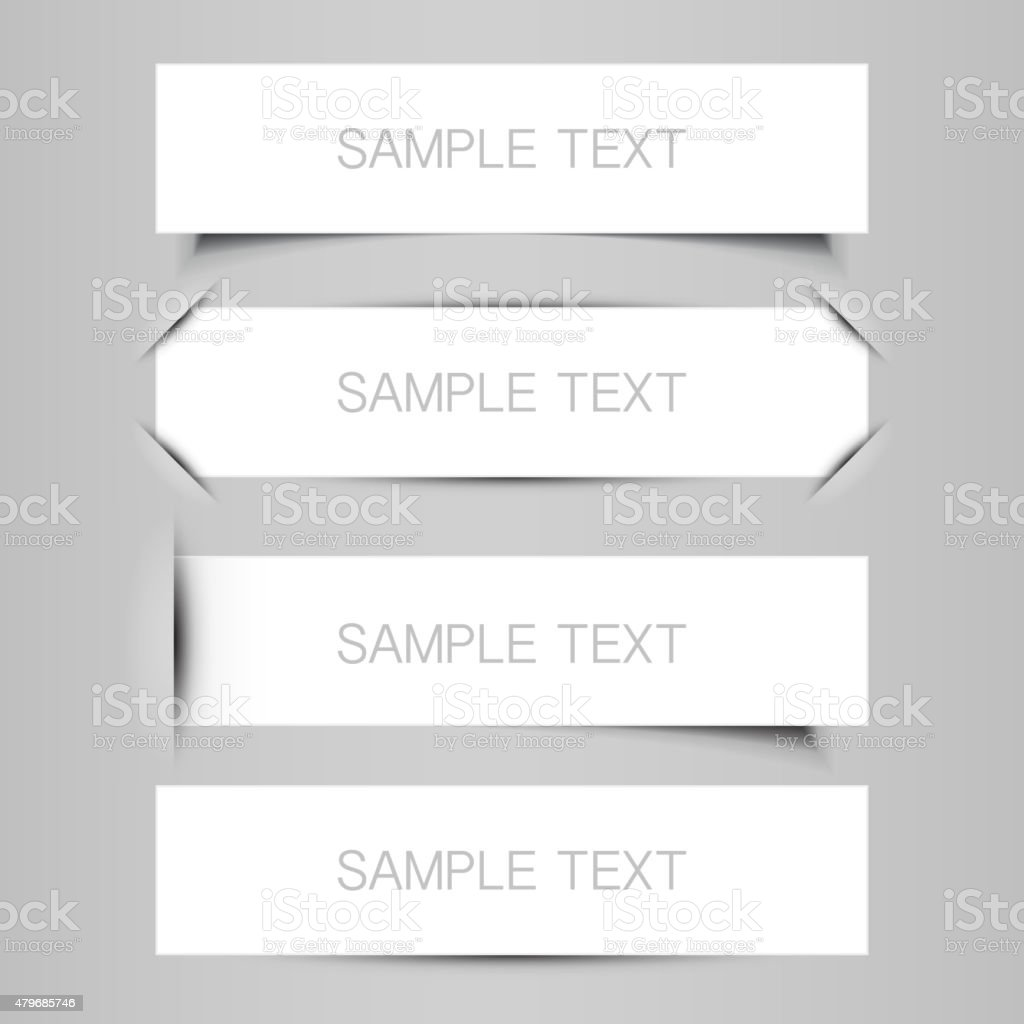 Tag, Label or Banner Designs vector art illustration