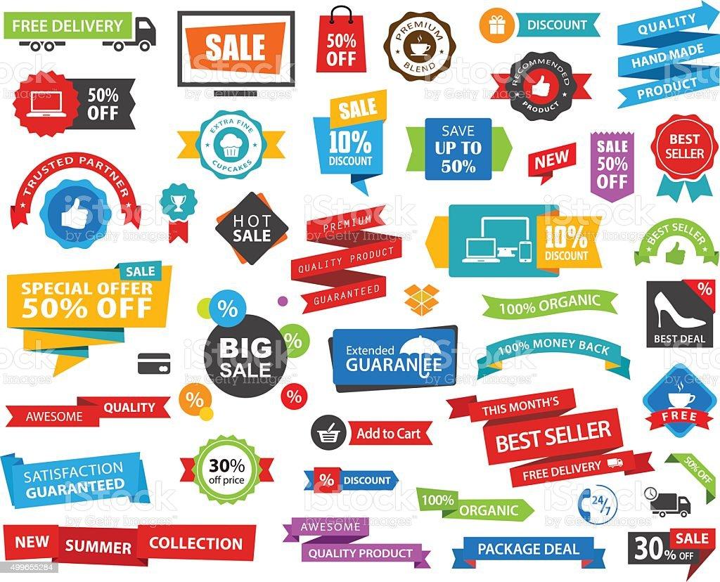 Tag Label Sticker Banner Vector vector art illustration