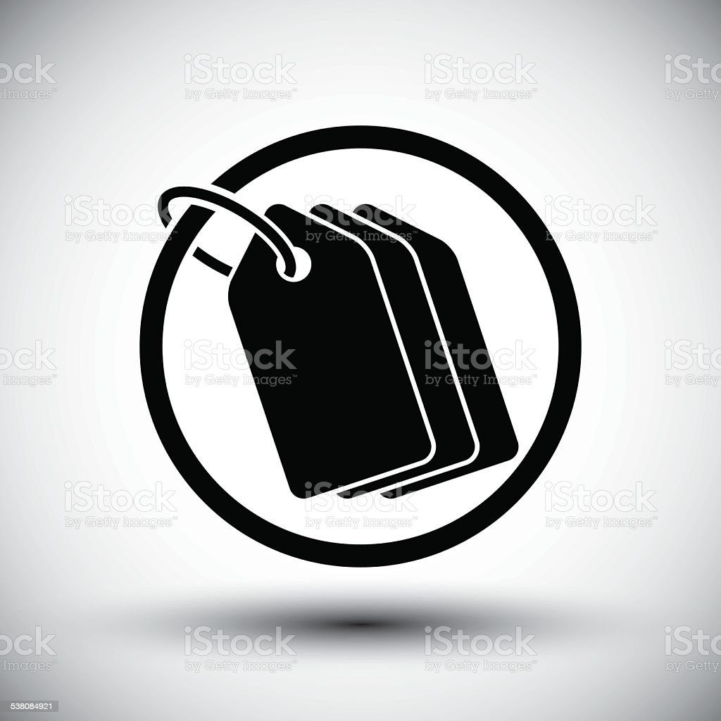 Tag retail theme vector simple single color icon. vector art illustration