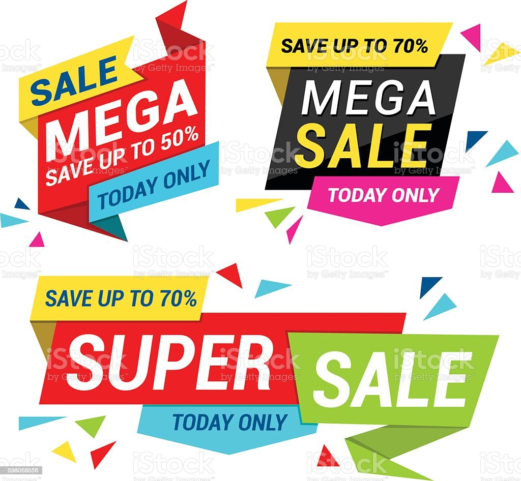 SALE Tag Set vector art illustration