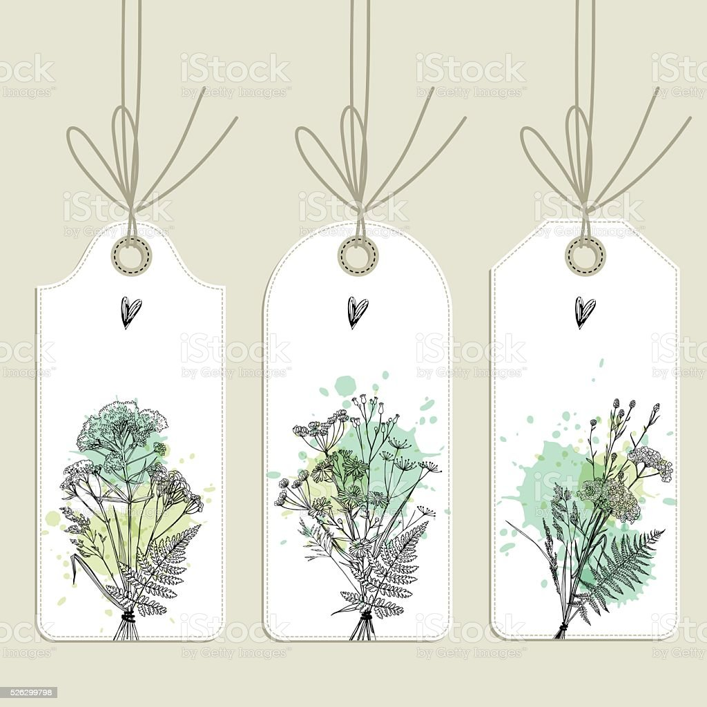tags collection vector art illustration