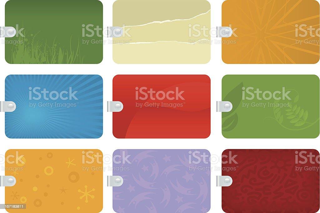 tags royalty-free stock vector art