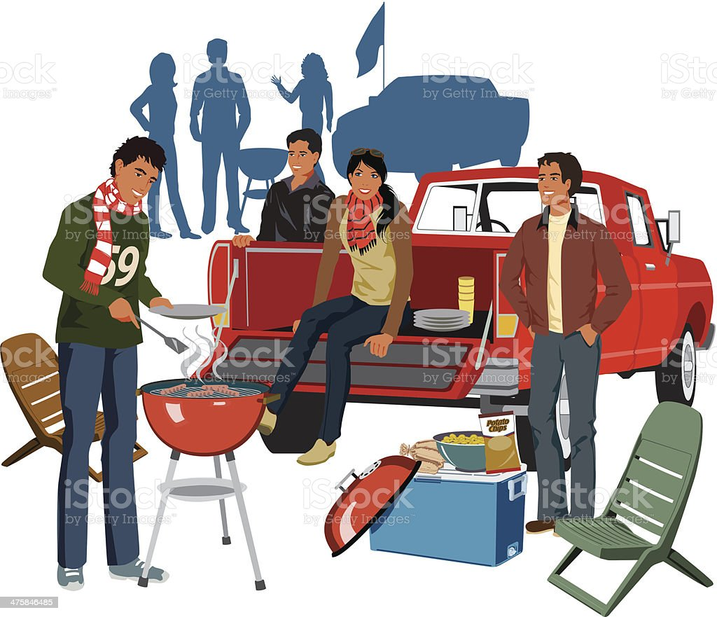 Tailgate Party C vector art illustration