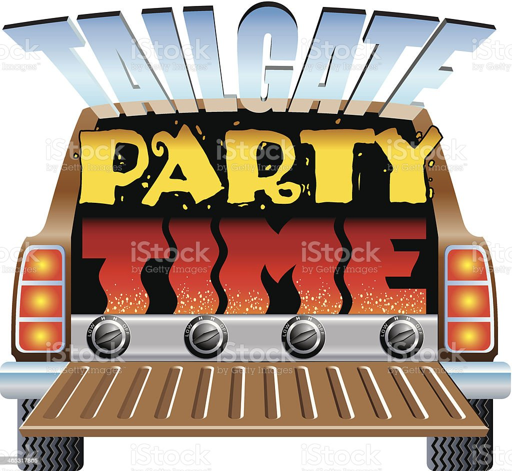 Tailgate Party Heading C vector art illustration