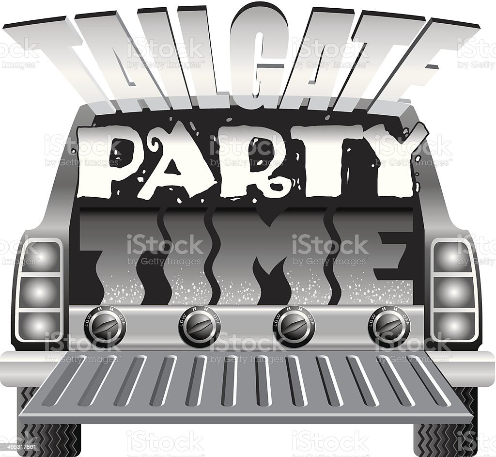 Tailgate Party Heading vector art illustration