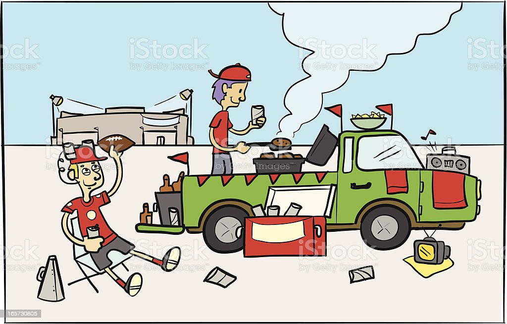 Tailgate Party vector art illustration